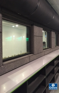 Bullet resistant glass gun range observation booth