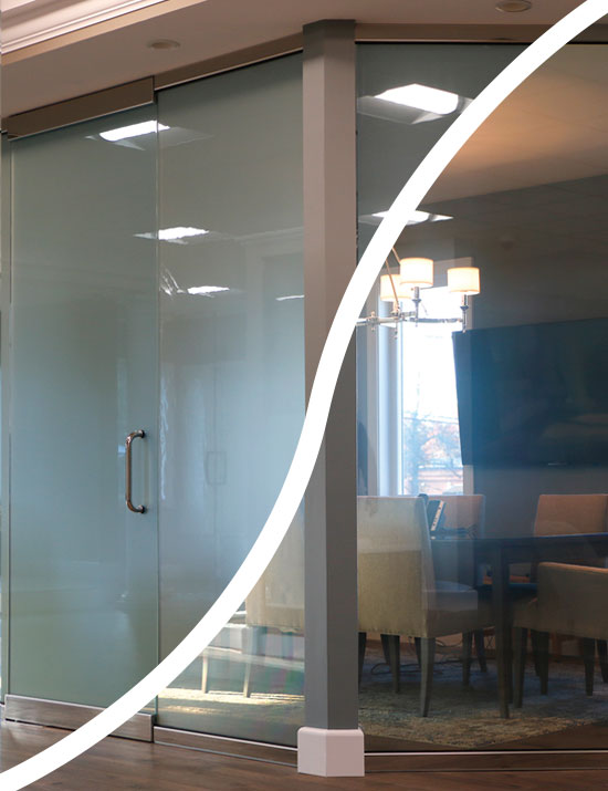 Glass for office conference rooms