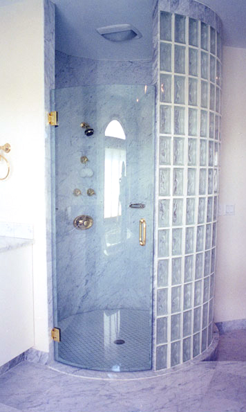 Customized glass shower door